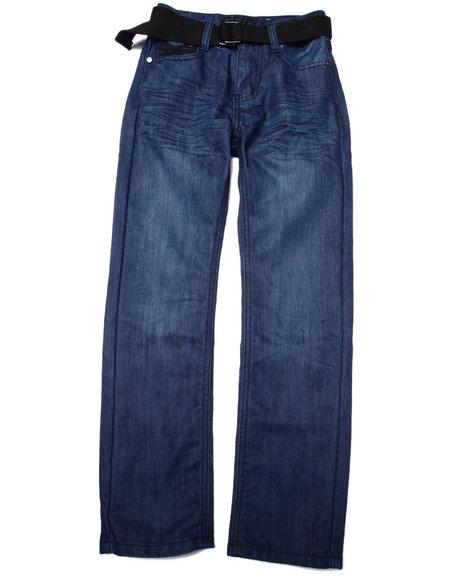 Arcade Styles - Boys Dark Wash Belted Mercer Jeans (8-20)