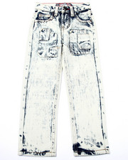 Bottoms - ACID WASH PATCH JEANS (4-7)