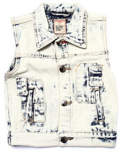 Boys - ACID WASH PATCH VEST (2T-4T)