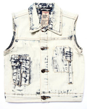 Boys - ACID WASH PATCH VEST (4-7)