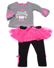 Sets - 2 PC SWEET CAKES TUTU SET (NEWBORN)