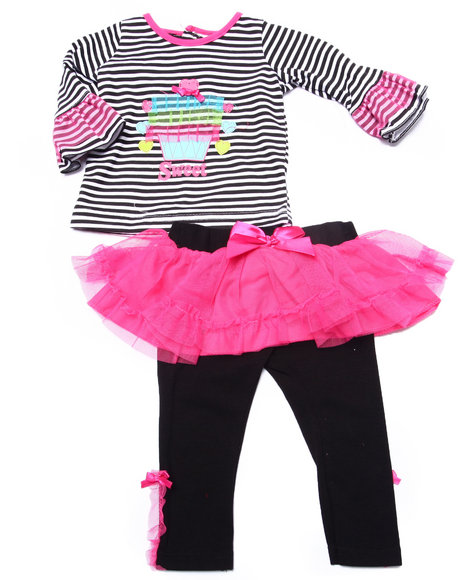 Duck Duck Goose - Girls Pink 2 Pc Sweet Cakes Tutu Set (Newborn) - $9.99