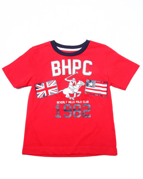 Arcade Styles - Boys Red Jersey Tee W/ Applique (4-7) - $5.99