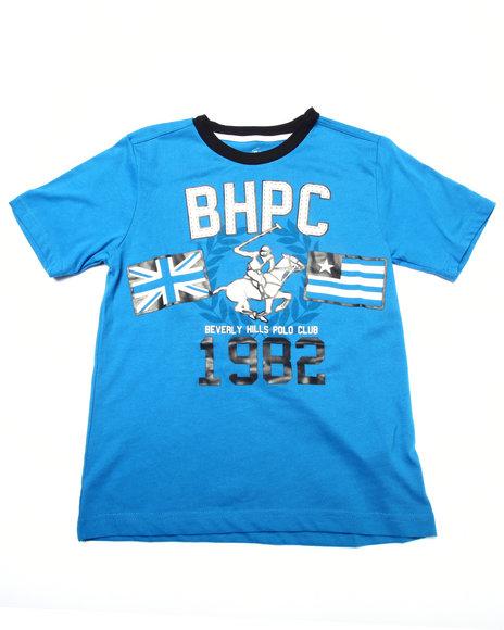 Arcade Styles - Boys Blue Jersey Tee W/ Applique (8-20) - $7.99