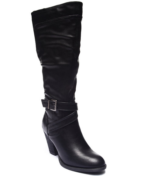 Ur-ID 188211 XOXO - Women Black Kittie Knee High Dress Boot