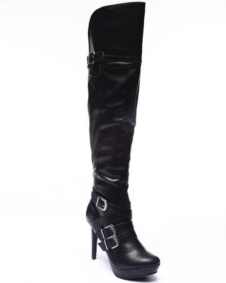 Xoxo - Women Black Nicole Platform Over Knee Boot
