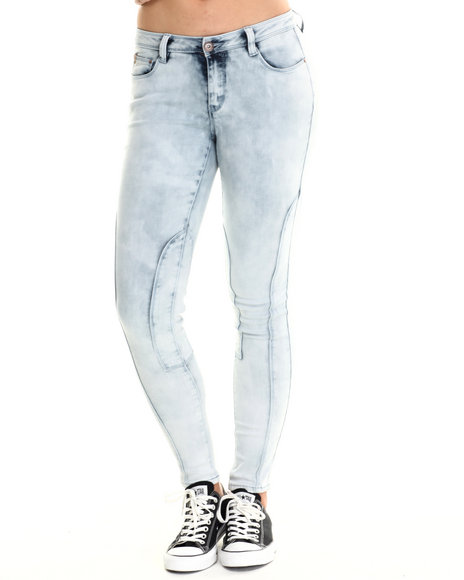 Basic Essentials - Women Light Blue The Moto Cross Skinny Jean