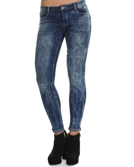 Basic Essentials - Women Blue Blue Crush Skinny Jean