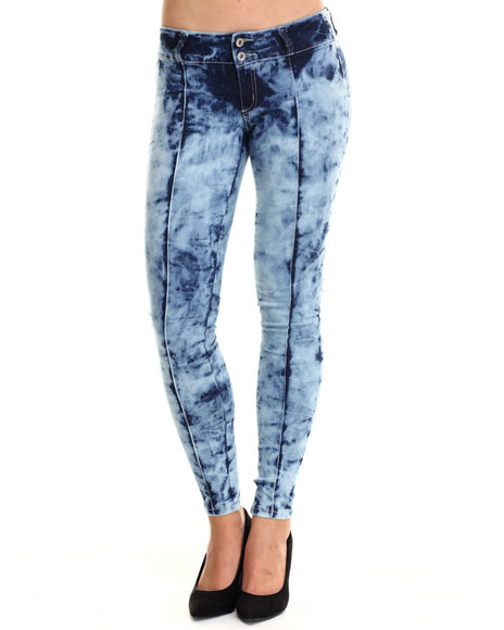 Basic Essentials - Women Blue The Miracle Stretch Acid Blash Jean