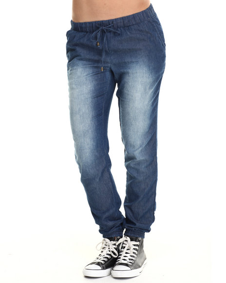 Basic Essentials - Women Dark Blue Around The Block Jogger Pants
