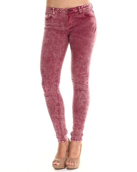 Basic Essentials - Women Purple Acid Berry Blast Skinny Jean