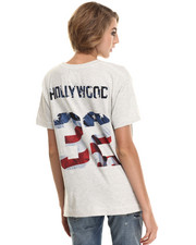 Tops - Oversized Hollywood # Tee