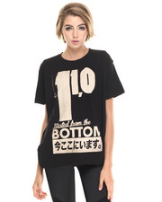 Tops - Oversized Started from the Bottom Tee