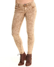 Basic Essentials - Brown Acid Trip Skinny Jean