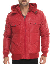 Well Established - Atomic Peace Bomber Quilted Jacket w/ Hood