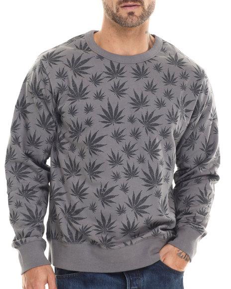 Waimea - Men Grey Herbalz Crewneck Sweatshirt - $36.00