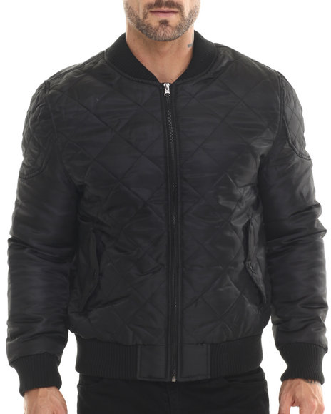 Akademiks - Men Black Jerome Quilted Jacket - $33.99