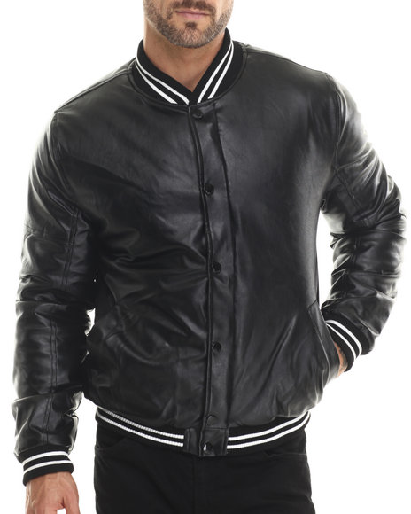 Akademiks - Men Black Webster Faux Leather Jacket
