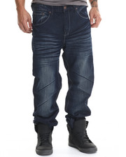 Basic Essentials - Whiskered Flap - Pocket Denim Jeans