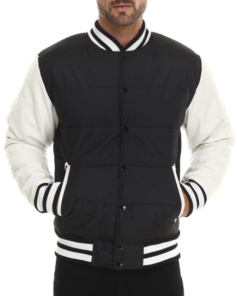 Akademiks - Men White Valentine 2-Tone Padded Cire Jacket