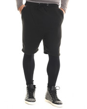 Shorts - COTTON SHORTS LEGGINGS WITH VEGAN LEATHER TRIM