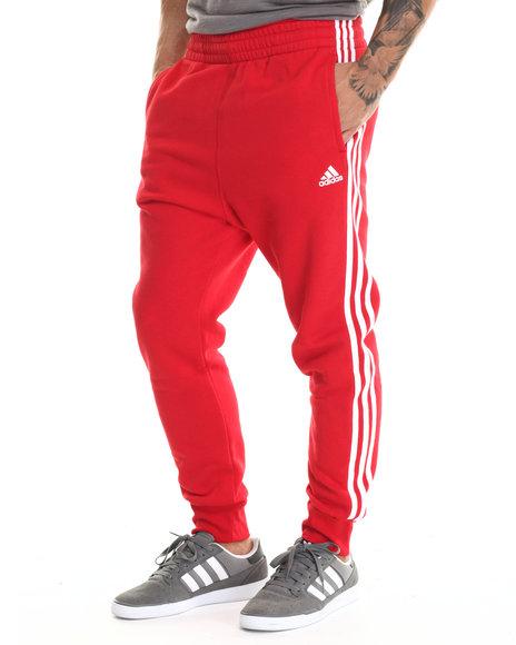 Adidas - Men Red Slim 3S Pants