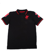 Sizes 8-20 - Big Kids - SOLID POLO W/ BACK APPLIQUE (8-20)