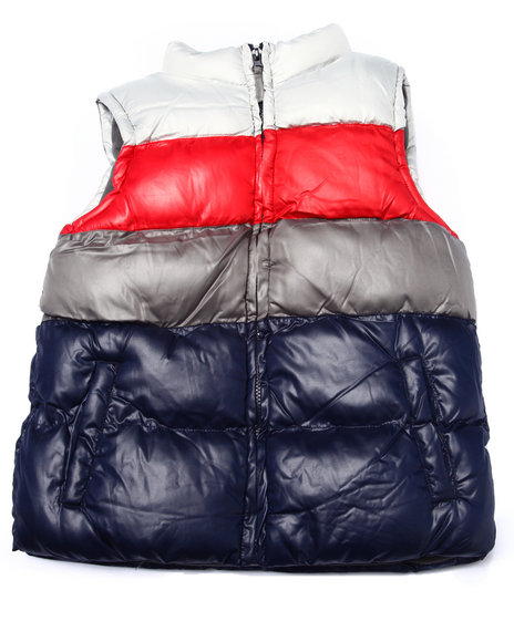 Arcade Styles - Boys Multi Color Blocked Quilted Vest (8-20)