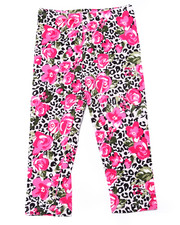 La Galleria - Leopard & Floral Print Legging (2T-4T)