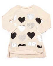 La Galleria - Foil & Stud Hearts 3/4 Sleeve Top (7-16)