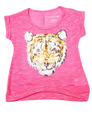 La Galleria - Sequin Tiger Slub Tee (4-6X)