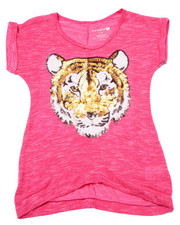 La Galleria - Sequin Tiger Slub Tee (7-16)