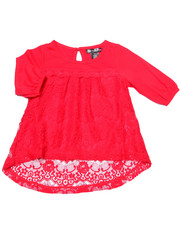 Girls - Crochet Lace Peasant Top (4-6X)
