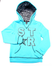 Sizes 7-16 - Big Kids - Star Zebra Print Hoodie (7-16)