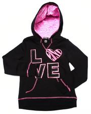 Girls - Love Zebra Print Hoodie (7-16)