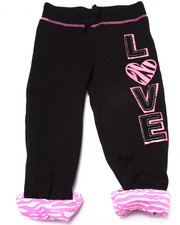 Sizes 4-6x - Kids - Love Zebra Print Cuffed Sweatpant (4-6X)