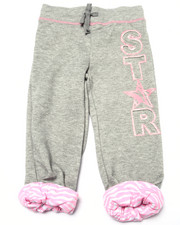 Bottoms - Star Zebra Print Cuffed Sweatpant (4-6X)