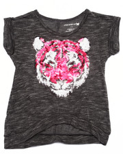 Tops - Sequin Tiger Slub Tee (4-6X)