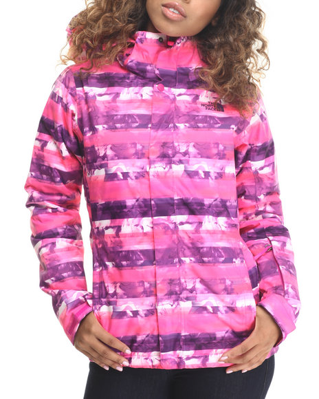 The North Face - Women Pink Straight Shot Snowboarding Jacket