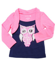 La Galleria - Sequin Owl Shrug Top (2T-4T)