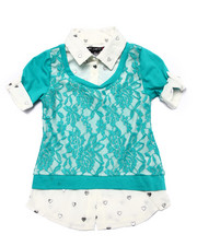 Girls - Lace Front 2fer Top (4-6X)