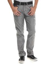 Men - Belted Flap Pocket Raw Grey Denim Jeans