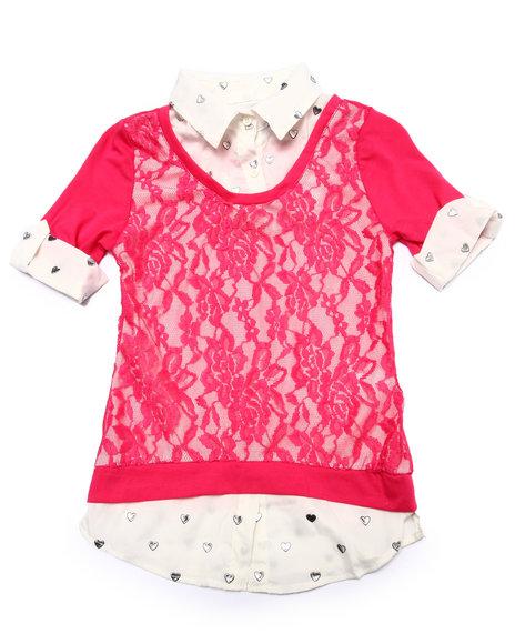 La Galleria Cream,Pink Fashion Tops