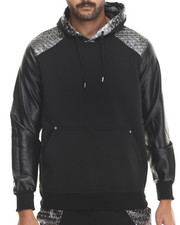 Buyers Picks - Metallic Star Faux Leather pullover Hoody