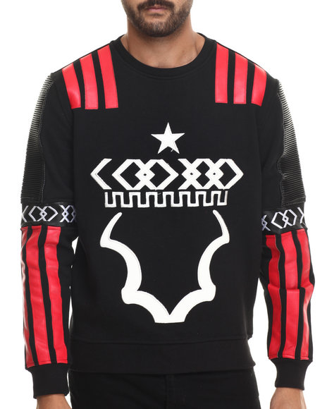 Koodoo - Men Black Koodoo Crown Crewneck Sweatshirt
