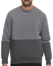 Men - Mo7 Quilted Crewneck  Sweatshirt