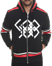 Holiday Shop - Men - Quilted Hockey - Style Zip - Up Hoodie