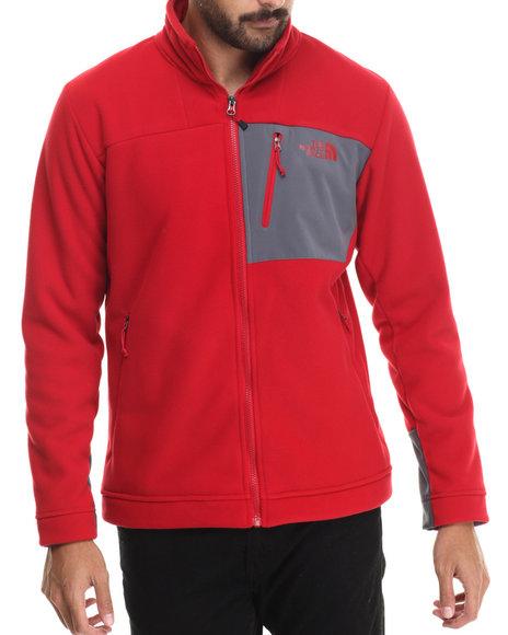 The North Face - Men Red Chimborazo Full Zip Fleece Jacket