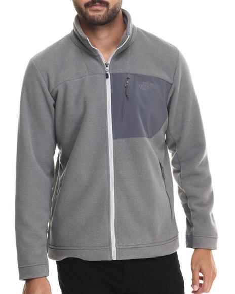 The North Face - Men Grey Chimborazo Full Zip Fleece Jacket