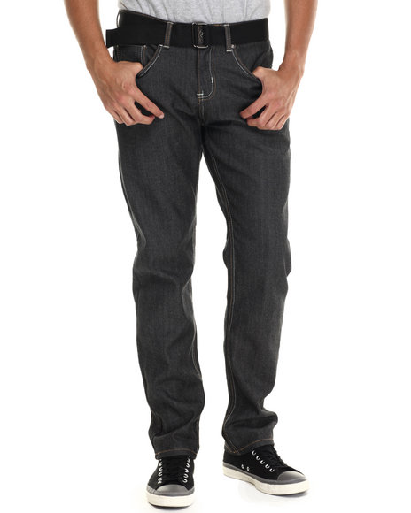 Buyers Picks - Men Black Cedilla Raw Denim Jeans